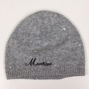 Moschino Wool Cashmere Blend Crystal Hat New!